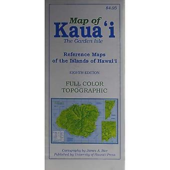 Karta över Kauai Garden Isle: referera kartor över öarna i Hawaii