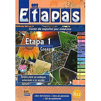 Etapa 1 Cosas. Manual de espanol para cursos intensivos/  Step 1 Things. Spanish Manual for Intensive Courses: Nivel A1/  Level A1