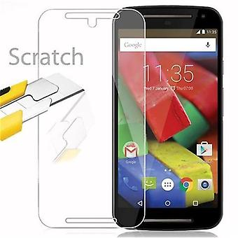 Cadorabo Tank Foil for Motorola MOTO G2 - Protective Film in KRISTALL KLAR - Tempered Display Protective Glass in 9H Hardness with 3D Touch Compatibility