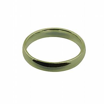 18ct fehérarany arany 4mm sima bíróság alakú Karikagyűrű méret Z