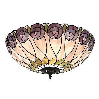 Hutchinson grande stile Tiffany due luce incasso plafoniera - interni 1900 64173