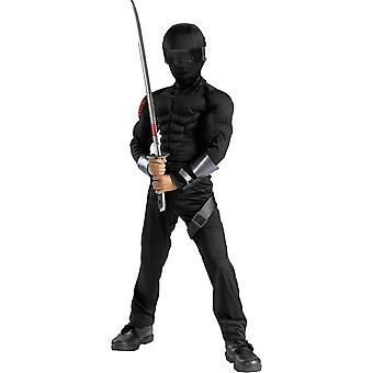 G.L.Joes Snake Eyes Muscle Child Costume
