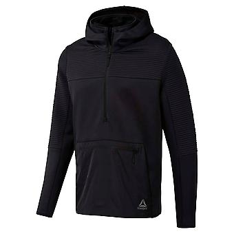Reebok Mens Therma Hoodie Performance Hoody Hooded Top Long Sleeve Lightweight