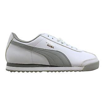Puma Roma grunnleggende Jr hvit/grå-Puma sølv 354259 02 grunnskolen