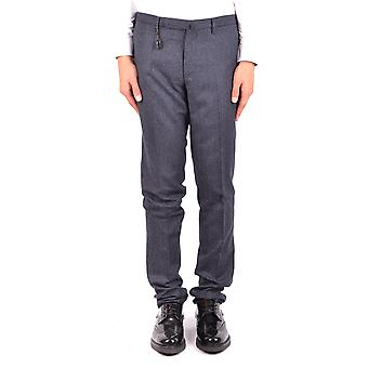 Incotex Ezbc093052 Men's Blue Wool Pants