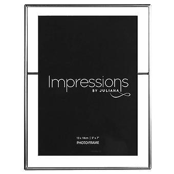 Juliana visninger tinn Tone fotoramme 5 x 7 - klar/Gunmetal grå