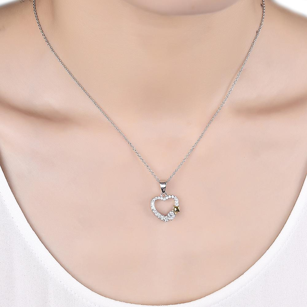 925 Sterling Silver Be My Star Pendant Necklace & Stud Earring Set