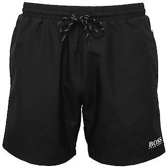 BOSS Starfish Swim Shorts, negru cu contrast alb