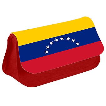 Venezuela Flag Printed Design Pencil Case for Stationary/Cosmetic - 0193 (Red) by i-Tronixs