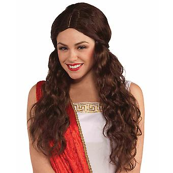 Venus Greek Goddess Roman Medieval Renaissance Brown Women Costume Wig