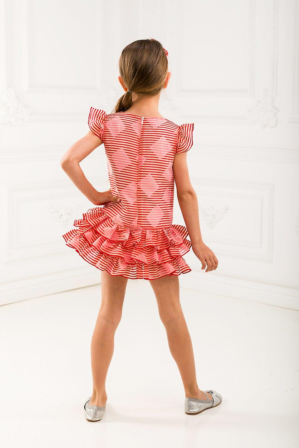 Red and rose girl dress