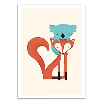 Art-Poster - Fox and Koala - Jay Fleck 50 x 70 cm