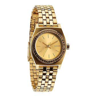 Nixon Small Time Teller tutto cristallo oro (A3991520)