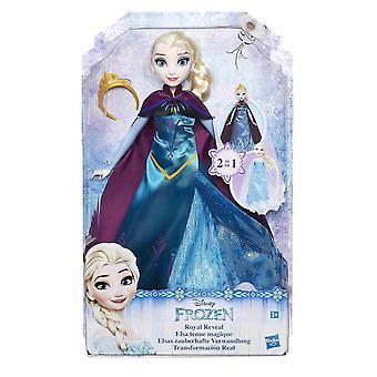 Disney Frozen Frost Royal Reveal Elsa poupée 2i1 robe 30cm