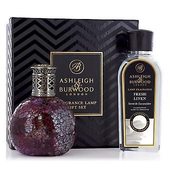 Ashleigh & Burwood Fragrance Oil Lamp Home Gift Set Diffuser Rose Bud