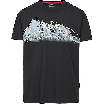 Trespass Mens Cashing Round Neck Polycotton Wicking Casual Fit T Shirt