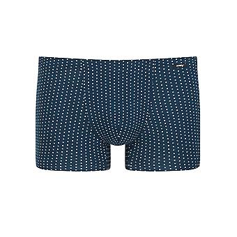 Mey 33521-668 Men's Point Yacht Blue Spotted Cotton Fitted Boxer
