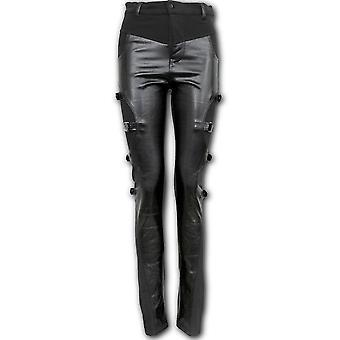 Spirale - Gothic Rock Panel Schnalle - Damen Hose