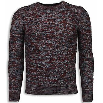 Suéter de malha - Cor Sweater Manga Comprida - Vermelho