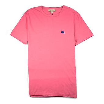 Burberry Joe-Forth Logo brodé T-shirt Pink-Blue