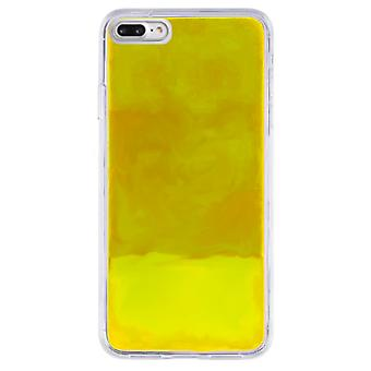 Sag CoolSkin flydende neon TPU til iPhone 8 plus/7 plus/6 plus gul