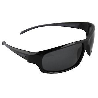 Sunglasses Sport Rectangle polarizing Glass black grey FREE BrillenkokerS329_6