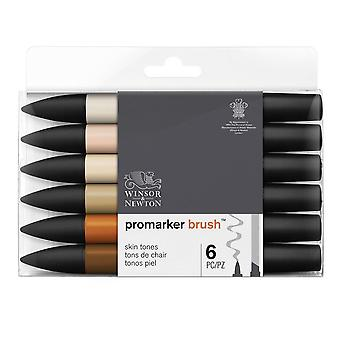 Winsor & Newton ProMarker Brush 6 Skin Tones Set
