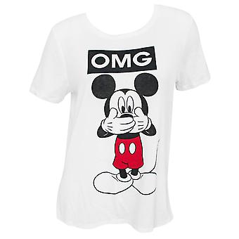 Mickey Mouse OMG Mujeres's camiseta blanca