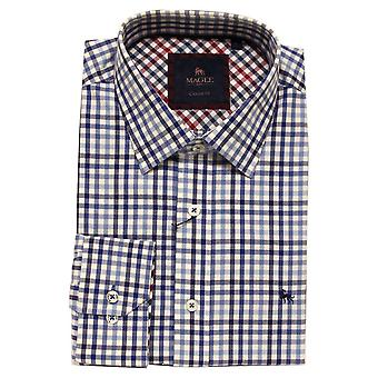 MAGEE Magee Blue Check Shirt 88698
