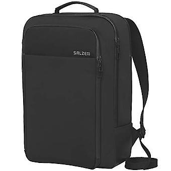 Salzen Fabric Line Casual Backpack - 43 cm - 17 liters - Black (Phantom Black)