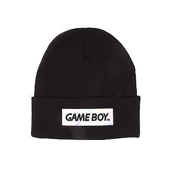 Gameboy Beanie Hat Block Logo new Official Nintendo Black