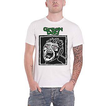 Green Day T Shirt Scream Band Logo new Official Mens White