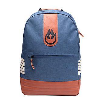 Star Wars Backpack Han Solo Falcon Emblem Melange new Official Blue