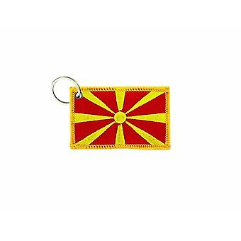 Cle Cles Key Brode Patch Ecusson Badge Macedoine Macedonien Flag