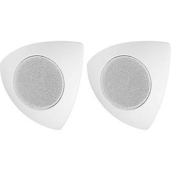 Monacor MKS-48/WS hoek speaker 30 W 8 Ω Wit 1 paar
