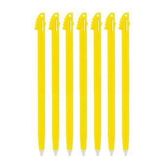 Stylus for nintendo 3ds xl ll ribbed handle touch pen slot in - 7 pack pastel yellow