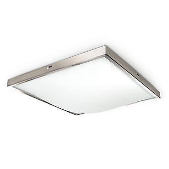 Sollux STUDIO 2 Light Flush Square Ceiling Light Satin SL.0012