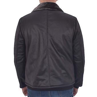 Dappere ziel mens schaduw lange mouw fleece gevoerde zipped jas vacht top-zwart