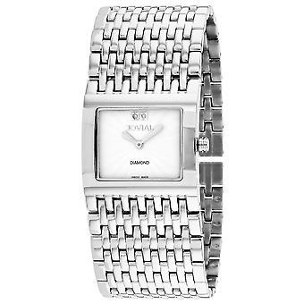 Jovial Women's Diamond White Dial Watch - 08037-MSM-01