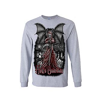 Unisex Hell's Guardian Grim Reaper Long Sleeve Shirt