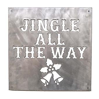 Jingle All the way-metaal knippen teken 15x15in