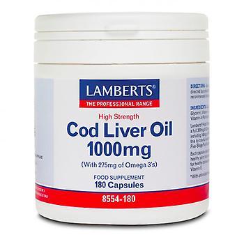 Lamberts Cod Liver Oil 1000mg Comprimidos 180 (8554-180)