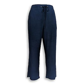 H door Halston vrouwen ' s broek pull op gewas Wide Leg Navy Blue A277947