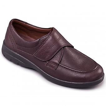 Padders Solar Herre læder bred (g/h) sko mørkebrun