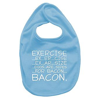 Bavaglino neonato turchese trk0210 exercise bacon