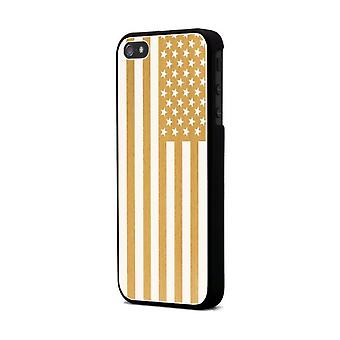Moxie Aluminium Hull Brushed Gold Flag Usa For Apple IPhone 5