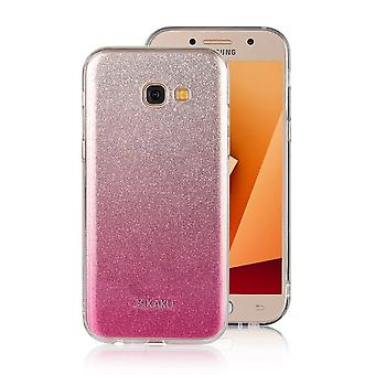 Hull For Samsung Galaxy A3 (2017) with Pink and Silver Strawberries