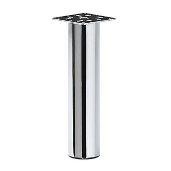 Chrome Round furniture Leg 20 cm