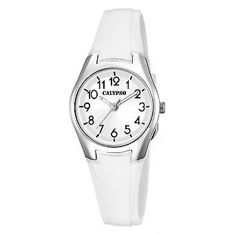Show Calypso K5750-1 - SWEET TIME Bracelet Silicone white woman aluminum case