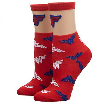 Wonder Woman Sheer Top Crew Socks
